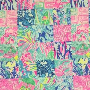 1 Yard Lilly Pulitzer Fabric SUMMER REMIX Patch